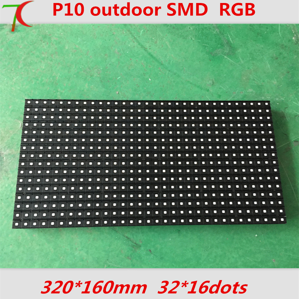 Factory direct sales P10 outdoor 4scan SMD full color use for led display, 320mm*160mm 32*16pixels 10000dots/m2