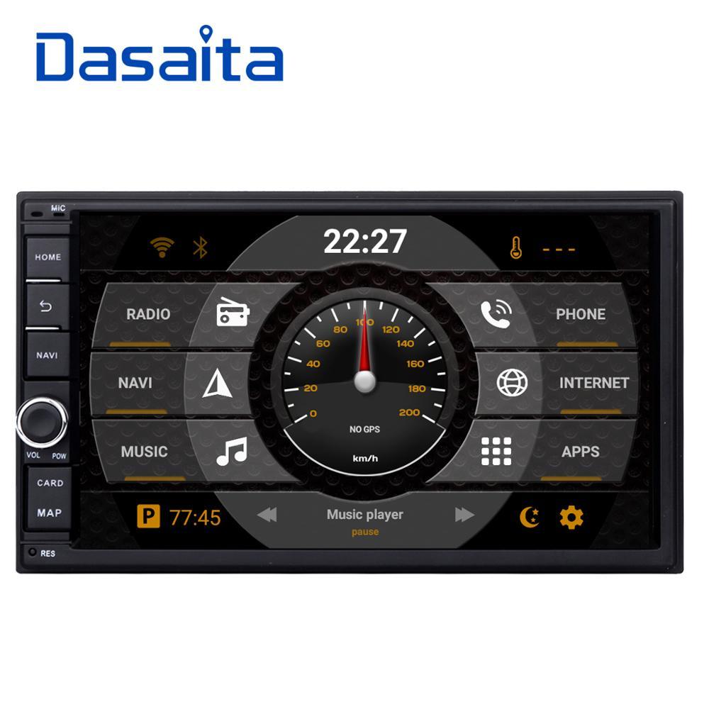 Dasaita 2 DIN Android 8.0 Auto Radio Octa Núcleo Polegada 7 Universal Carro SEM DVD Player GPS Áudio Estéreo Cabeça unidade de Apoio DAB DVR OBD