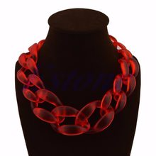 New Hot Fashion Lady Acrylic Collar Chunky Choker Statement Chain Necklace Pendant Jewel(China)