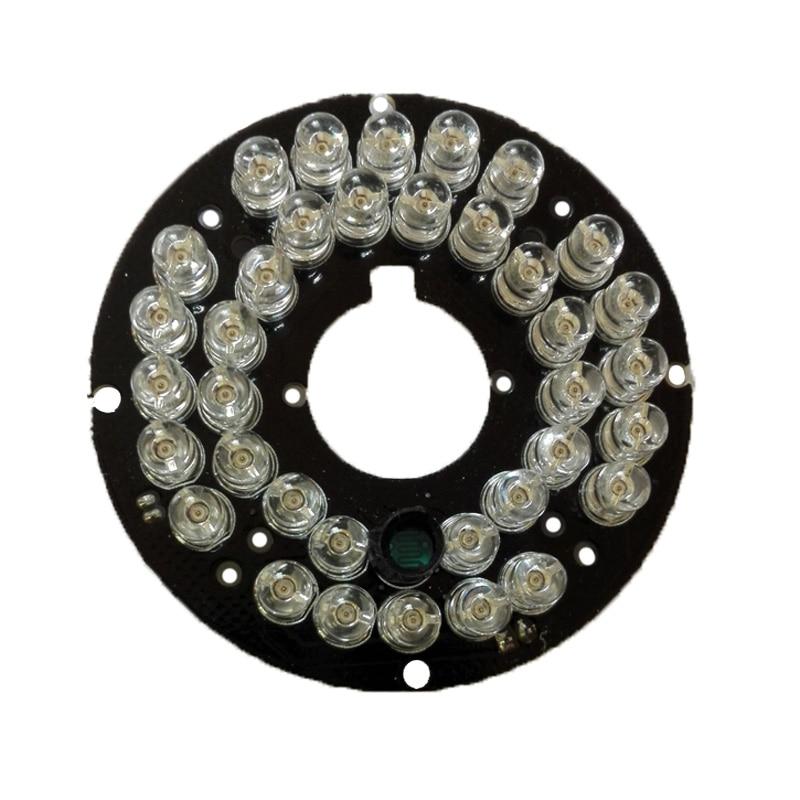 цена на REDEAGLE 2PCS/Lot Infrared 36 IR LED Light Board for CCTV Security Cameras Night vision (diameter 57mm)