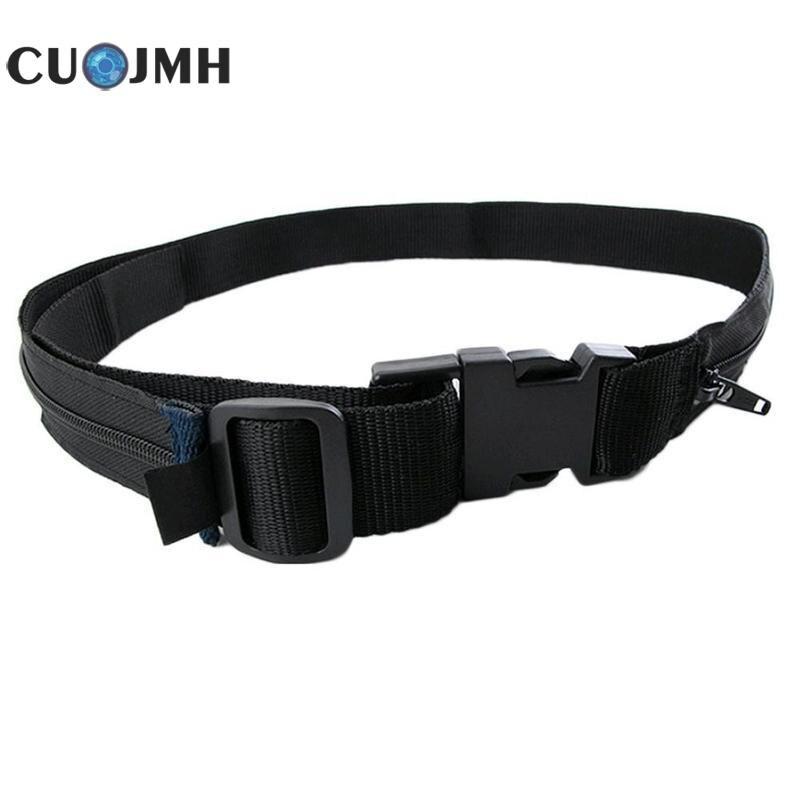 1 Pcs Adjustable Buckle Double Layer Bag Belt Special Design Nylon Anti-theft Double Layer Hide Money Waist Wallet Belt все цены