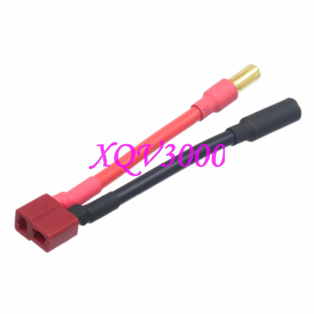 T Plug (Deans Style) Female to 5.5mm Bullet Male Connector 5CM 12awg ...