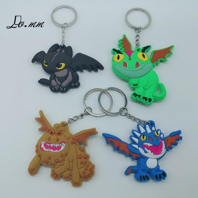 How to Train Your Dragon key chain Cute Night Fury Monstrous Nightmare PVC cartoon man women kids souvenir llaveros keychain toy
