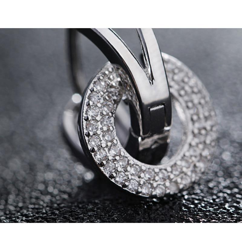 925 Sterling silver stud earrings wedding (2)
