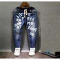 2-7 años de muchacha creen personalidad vaquero pantalones vaqueros muchacho de la manera del otoño del resorte niños diseño de pantalón azul oscuro