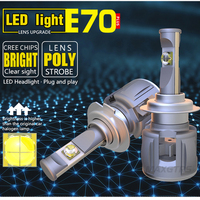 2x H7 H4 H8/H11 HB3/9005 HB4/9006 H1 9012 D1 D2 D3 D4 Car LED Headlight Auto Bulb Headlamp ETI Chip 6000K Light 120W 12000lm