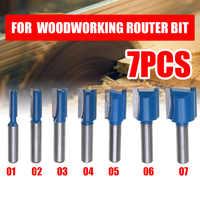 1PCS 8mm Schaft Gerade Holzbearbeitung Router Bit Set Carpenter Fräsen Cutter 6/8/10/12 /14/18/20mm Schneiden Durchmesser