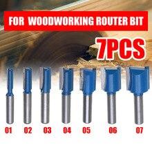 Набор фрез для деревообработки, прямой хвостовик 8 мм, диаметр резки 6/8/10/12/14/18/20 мм, 1 шт.