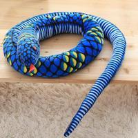 280cm Big Size Snake Simulation Snake Soft Doll Stuffed Plush Animal Toy For Baby Girls Kids Lover Children Best Birthday Gift