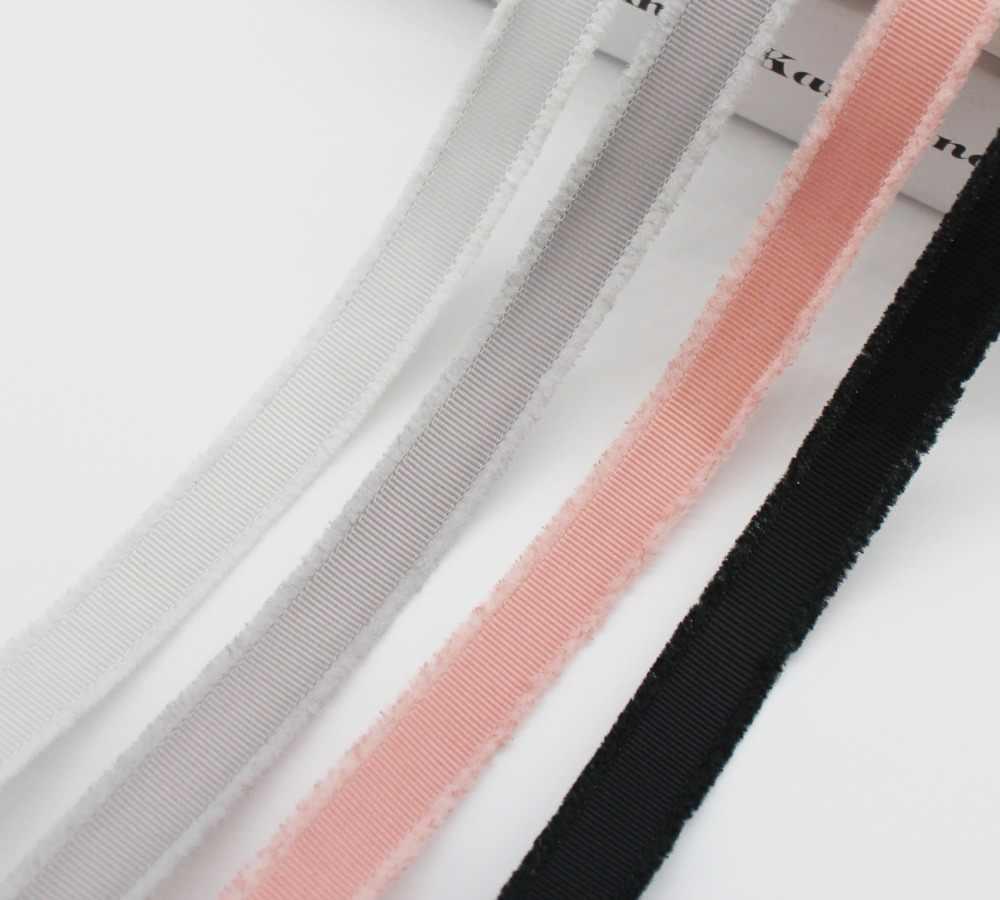קצה מצויץ מבהיקי סרט על ידי חצר 5/8 אינץ 16MM 1 אינץ 25MM רוחב ידידותית לסביבה DIY Hairbow מלאכות