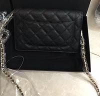 classic women fashion top quality brand caviar woc bag genuine leather women handbag mini flap shoulder bag sac