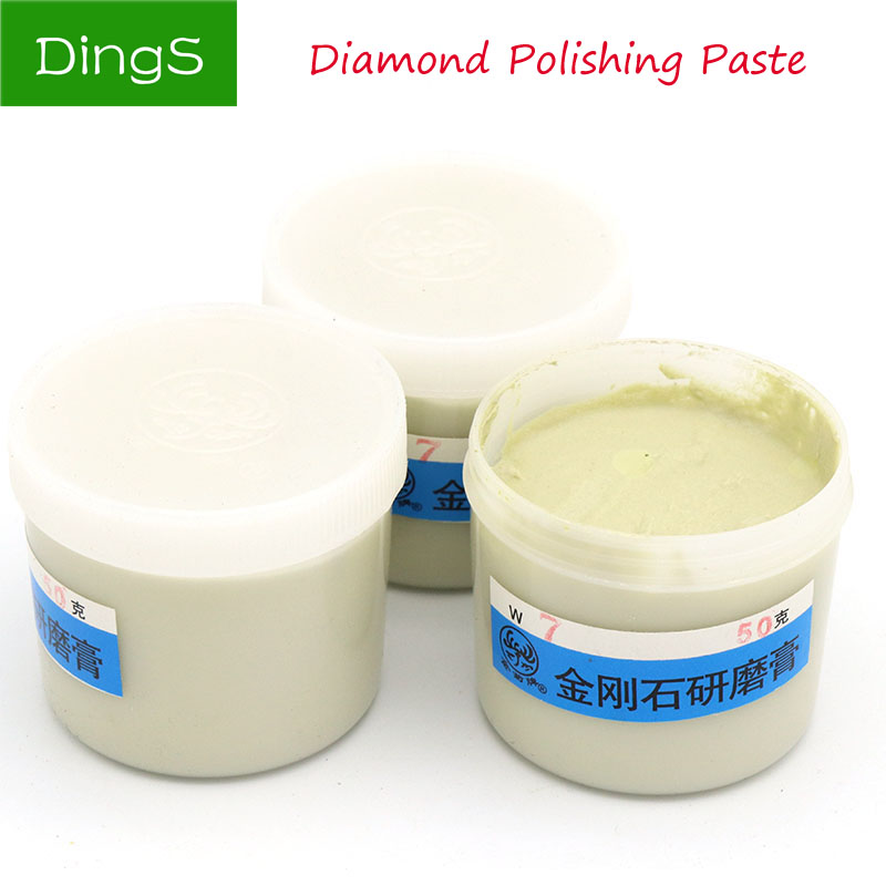 50g/bottle Abrasive Tools Diamond Polishing Lapping Paste For Jade Emerald Agate Crystal Ceramic Alloy Gypsum Metal Grinding