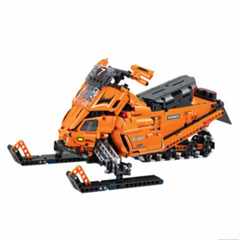 new 2017 961pcs Technology Series Snowmobile Bricks Toys Building Blocks Compatible With Brick Kids Gifts стоимость