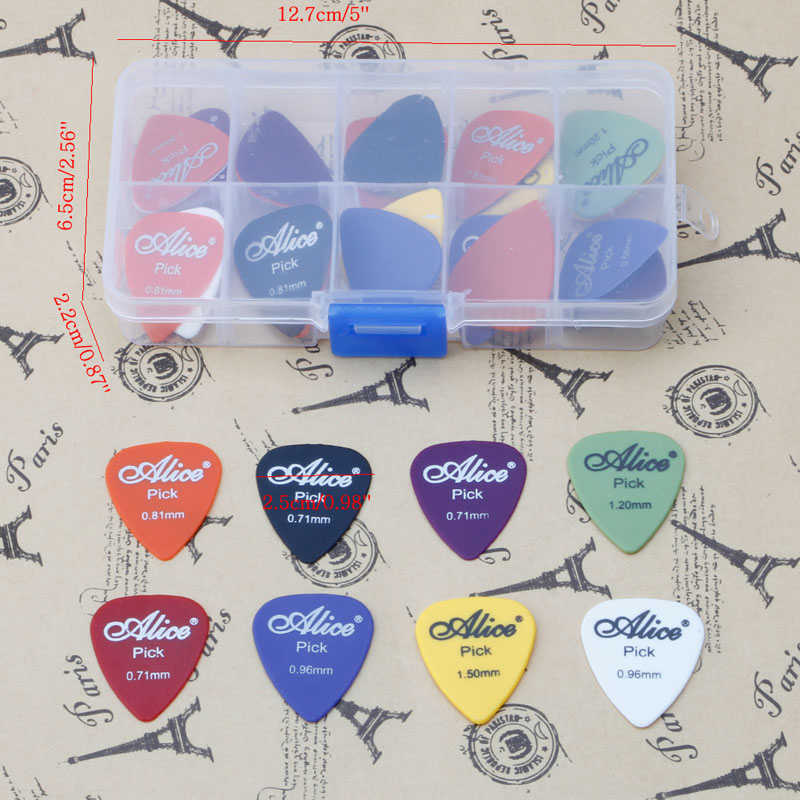 New 30Pcs Acoustic Electric Guitar Picks Plectrum Plectra Various Durable