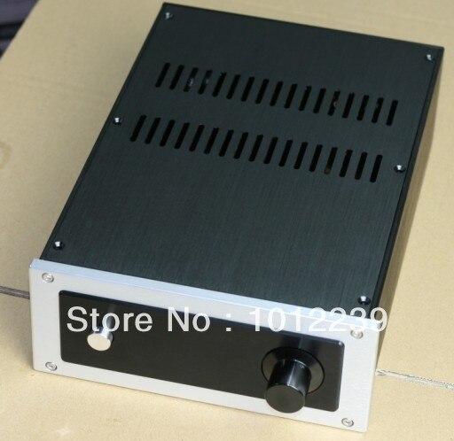 Nueva aluminio amplificador chasis/home audio amplificador de potencia caso tama
