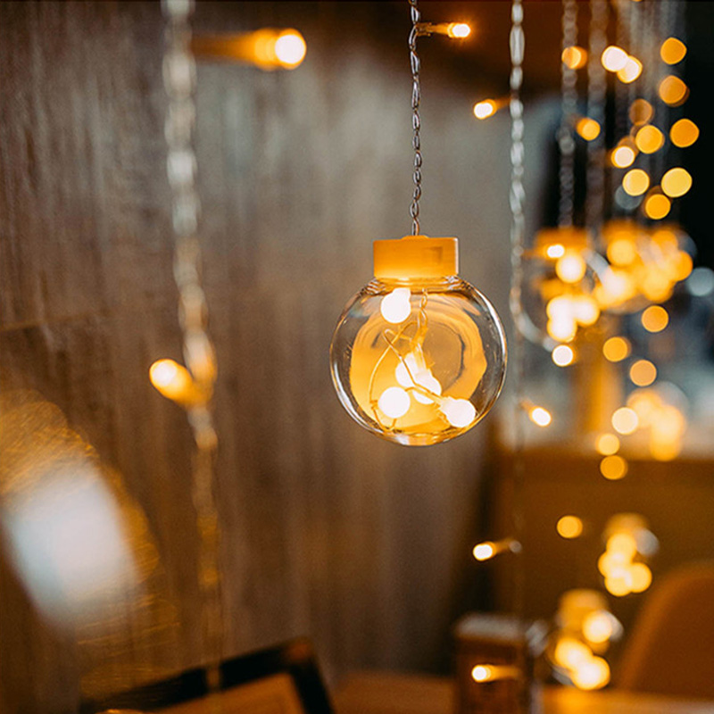 2.5M Fairy Garland LED Ball String Lights For Christmas Tree Wedding Home Indoor Part Outdoor Garden Decoration String Lamps