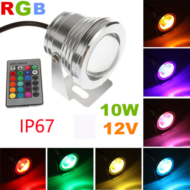 dc 12v outdoor led spotlight underwater landscape stage light 10w rgb color changeable spot led wedding party holiday light ip67