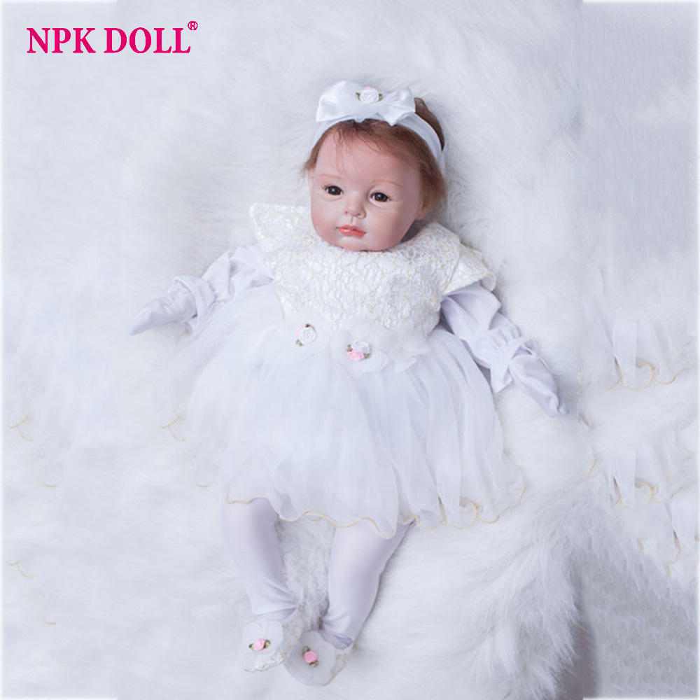 55cm Bebes Reborn Silicone Vinyl Baby Doll Boneca Toys