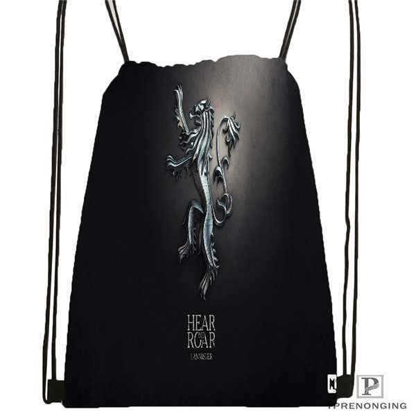 Custom Game-of-Thrones Drawstring Backpack Bag Cute Daypack Kids Satchel (Black Back) 31x40cm#180611-01-37