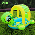 2pcs Babies Children Kids Tortoise Swimming Inflatable Boat Swimming Pool Water Development