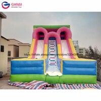Corrediça inflável inflável engraçada exterior do castelo para o jogo de salto do esporte 8*4.5*6m