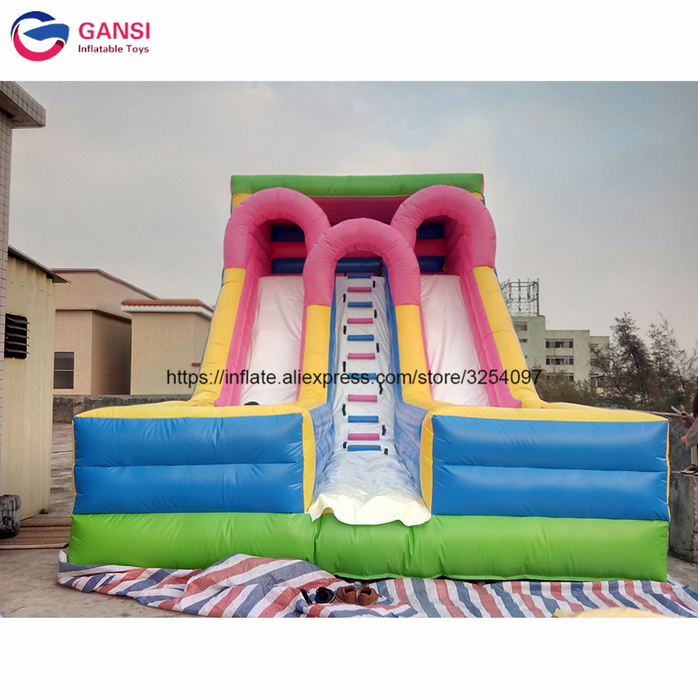 Outdoor funny inflatable castle slide for jumping sport game 8*4.5*6m durable air bouncy castle lows price inflatable slide super funny elephant shape inflatable games kids slide toy for outdoor