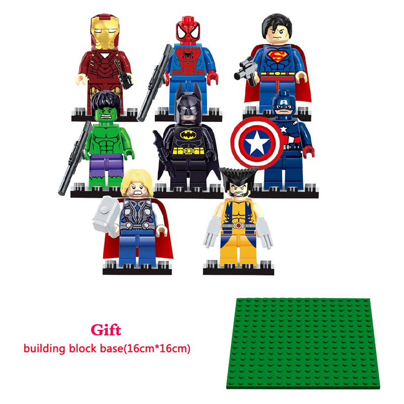 Lepin Spiderman Superman Ironman Batman Hulk Wolverine Super Heroes Marvel Avengers Building Blocks Bricks Toys Compatible Legoe marvel avengers super heroes figures batman iron man black widow hulk joker lepin building blocks model sets toys for children