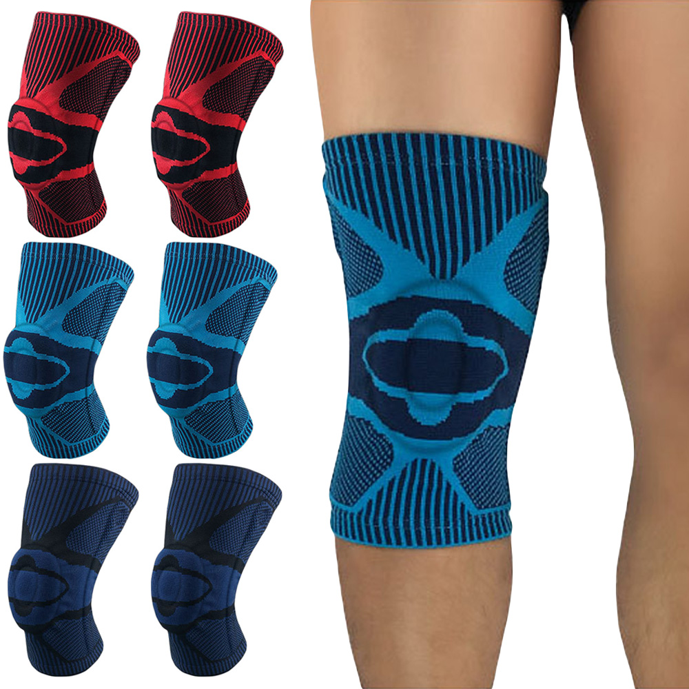 Sports Knee Pads Brace Silicone Spring Knee Protection Support Running Fitness SPSLF0089
