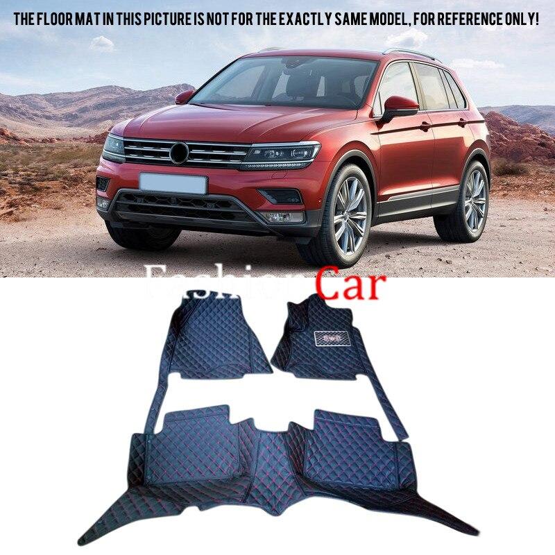 For Volkswagen Tiguan 2nd Gen 2016 2017 Right hand drive Car Floor Mat защита радиатора volkswagen tiguan track