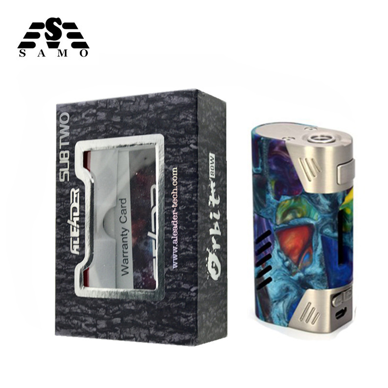 Original Orbit 80W Box Mod packing Good quality resin mods Vaporizer 5-80w Luxurious Gift Box 510 thread electronic cigarette