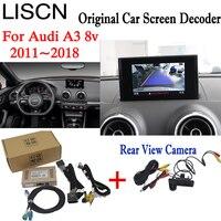 Для Audi A3 8 V 2011 ~ 2018 Интерфейс адаптер подключения оригинальный Экран монитор команда видео Интерфейс коробка
