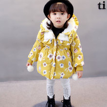 Sweater Hoodie Clothing Female Baby Girls Plus Velvet Thick Jacket Padded Jacket Winter Cotton Padded Jacket Park for A Girl
