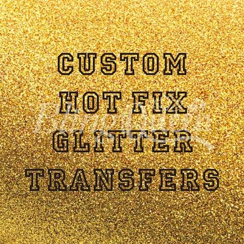 BlingQueen 12PCS LOT Custom Hot Fix Iron On Glitter HTV Vinyl Transfers Korean Quality