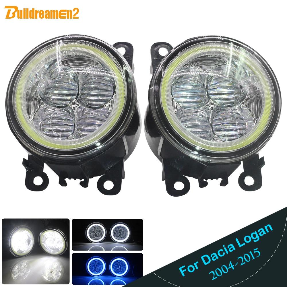 Buildreamen2 2 Pieces Car Styling LED Light Fog Light Angel Eye Daytime Running Light DRL 12V For Dacia Logan 2004 2015