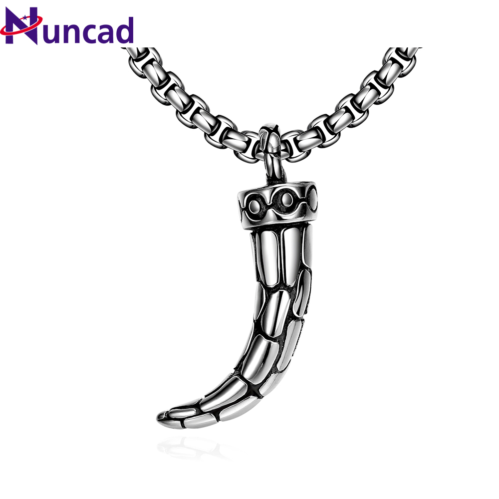 Vintage Stainless Steel Chain Necklaces Pendants for Men Personality Spike Necklace Punk Jewelry for fidget spinner