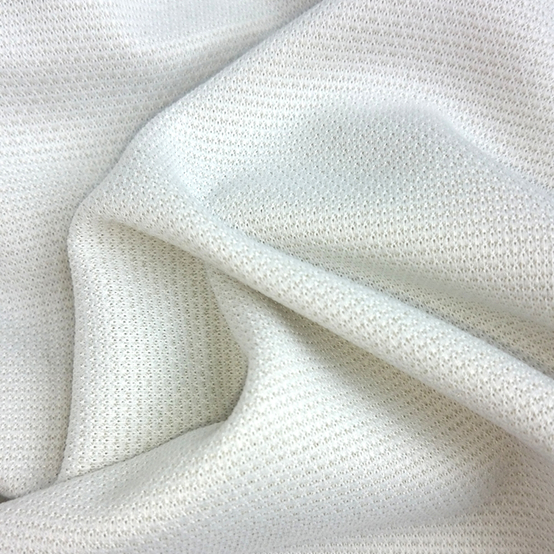 Copper nylon / polyester intertwined double meshanti bacterial & anti foul fabric for shoe's lining