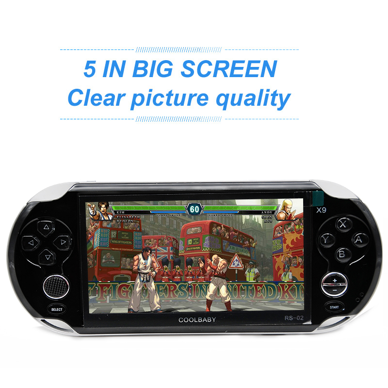 5 0 Large Screen 8GB Handheld Video Game Console Player Support TV Out With MP3 Movie
