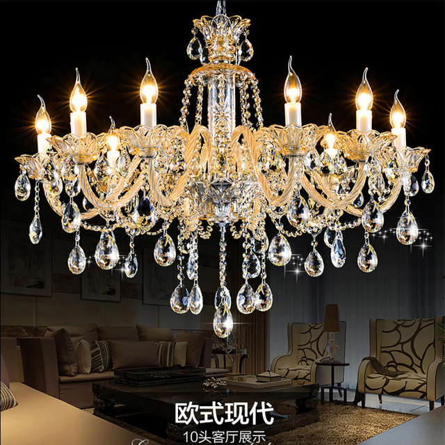 Romantic champagne crystal chandelier chain lustre light manor romantic champagne crystal chandelier chain lustre light manor clubhouse lights bedroom k9 crystal chandelier chains audiocablefo