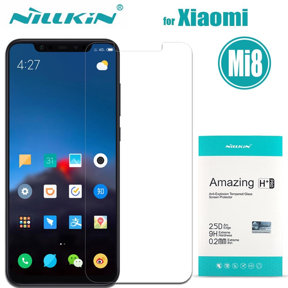 Xiao mi 8 vidrio templado Xiao mi 8 Protector de pantalla Nillkin Amazing H & H + Pro Protector para Xiao mi 8 M8 Nilkin Glass