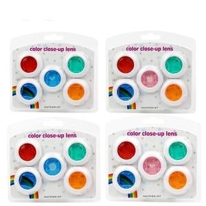 Image 1 - Fujifilm Instax Mini 7 s/8/8 +/9 Film Kamera 5 Adet Renk Filtresi Yakın Çekim lens