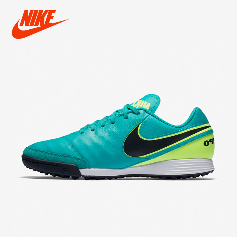 Original New Arrival NIKE TIEMPOX VI TF Big Kids Boys Indoor Outdoor Football Soccer Professional Sneakers Shoes tiebao e1018c professional kids indoor football boots turf racing soccer boots training football shoes