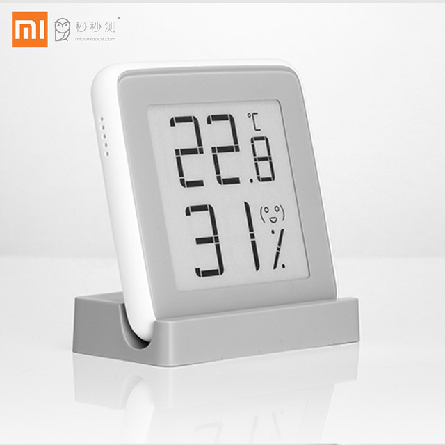 Xiaomi MiaoMiaoCe E-Link INK Screen Display Digital Moisture Meter High-Precision Thermometer Temperature Humidity Sensor perfeo fitness pf fns blk black