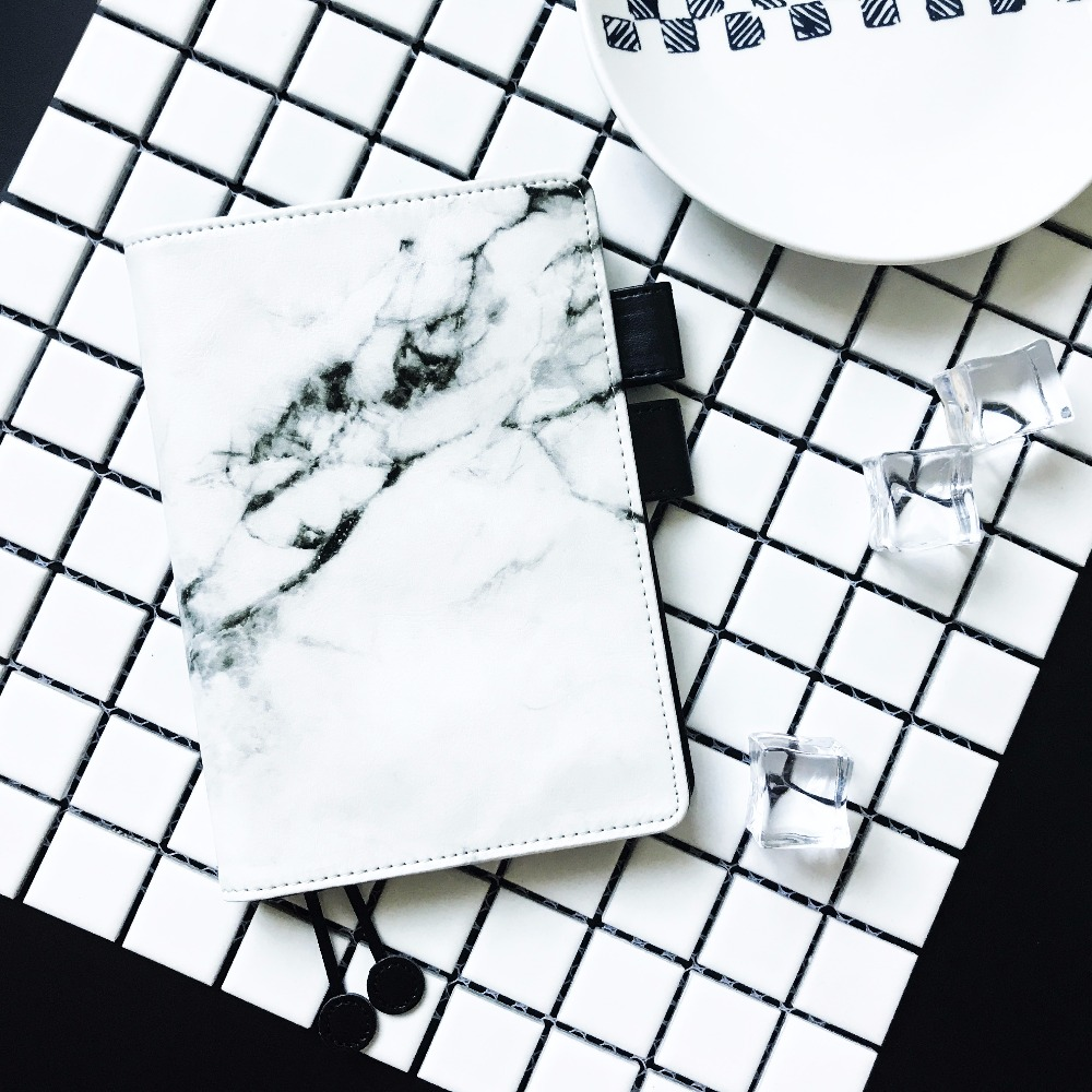 White Marble Fashion Creative PU Journalen Cover Hobonichi Fashion - Block och anteckningsböcker