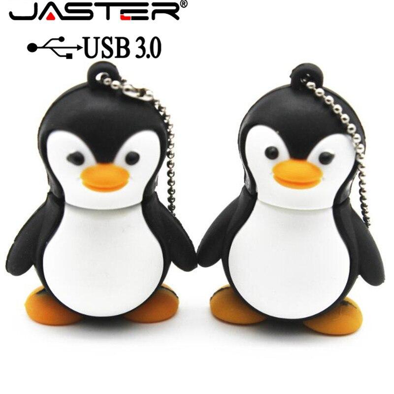 JASTER 3.0 Lovely Penguin Usb Flash Drive Cartoon Pendrive 4gb 8gb 16gb 32gb Memory Stick USB 3.0 Gift Beauty Pendant
