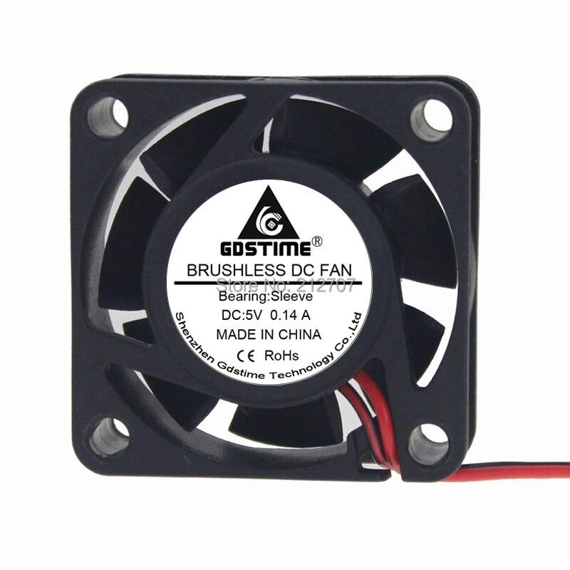 10 шт. Gdstime 40x40x15 мм DC 5 В 2Pin 4 см 40 мм PC Процессор радиатора кулер вентилятор охлаждения