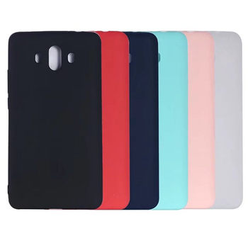 100pcs/lot For Huawei Mate 10 Candy Color Soft Matte Transparent Clear TPU Silicone Back Cover Case For Huawei Mate 10