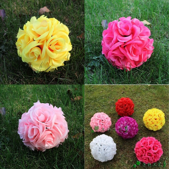 6inch 15 cm artificial rose silk flower kissing balls hanging 6inch 15 cm artificial rose silk flower kissing balls hanging flowers ball for wedding christmas ornaments mightylinksfo Choice Image
