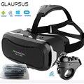Shinecon vr 2.0 ii 3d óculos de realidade virtual vr headset google CAIXA de papelão VR Para 4.7-6' Controlador Remoto Do Telefone Móvel + R1