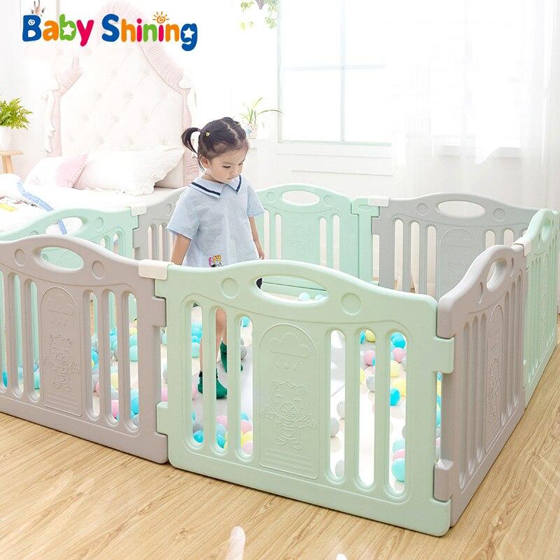 Bébé brillant bébé parcs jeu clôture infantile exercice clôture bébé intérieur marche jouer maison sécurité clôture ménage