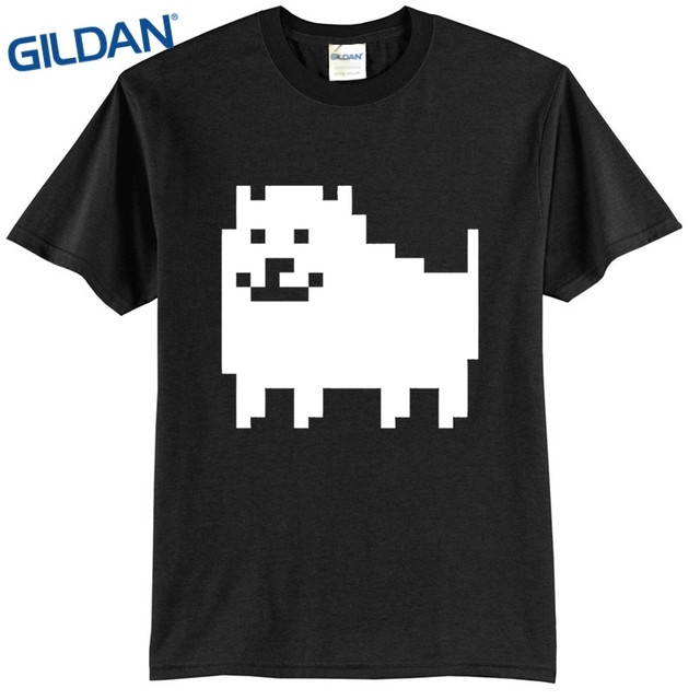 7d99c9c61 Black T Shirt Men Undertale Annoying Dog Clothes Men Cool Tees Tops Online  Shirts black mens t shirt